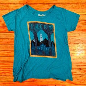 Lucky Brand Women's Teal Tee